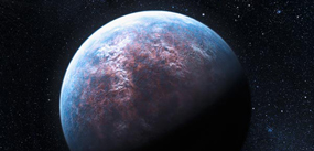 artist's conception of a habitable planet