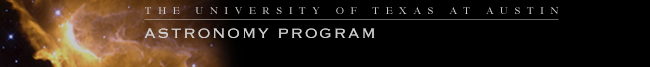 the university of texas at austin - astronomy program