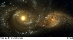 ngc 2207 and IC 2163