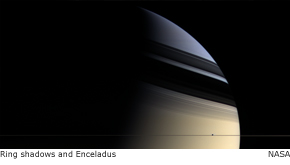 ring shadows and enceladus