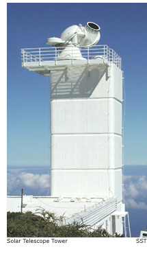 solar telescope tower