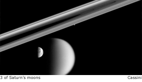 3 of saturn's moons